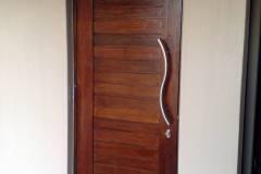 Solid Horizontal Slatted Door