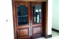 Pair Cape Dutch Glass Top Heavy Bollection Panel Bottom Doors