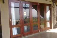 Full Pane + Safety Rail 5 Leaf Folding Sliding Door