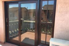 Full Pane 2 Door Sliding Door With  Mock Sash Sidelight