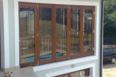 Full Pane 5 Leaf Folding Sliding Door