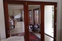Full Pane 3 Leaf Folding Sliding Door
